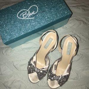 Betsey Johnson Briel Silver Bow Heel